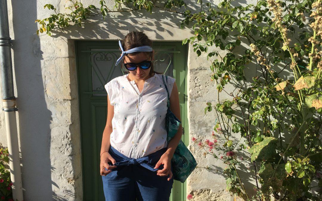 Tenue cousu-main : pantalon jumpy et chemise Maligne