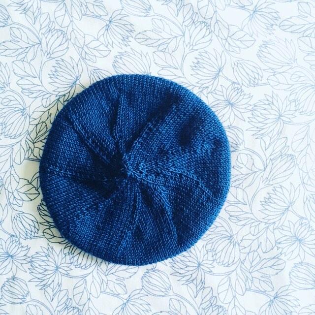 Le béret Paris, tricot de l'hiver